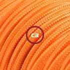 RM15 Orange Solid Round Electric Cable covered by Rayon fabric