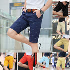 New Men's Fashion Casual Cotton Pants Baggy Shorts Pockets Cargo Short Trousers