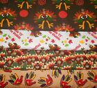 THANKSGIVING #1  FABRICS Sold INDIVIDUALLY NOT AS A GROUP By the HALF YARD