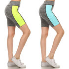 2pk Womens Workout Capris Yoga Shorts Ladies Performance Athletic Biking Running