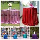 """48""""-156"""" Sequin Table Cloth, Shimmer Sparkly Overlays Tablecloths for Wedding"""
