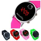 New Hello Kitty Watch for Girls Children Casual Silicone Digital LED Quartz