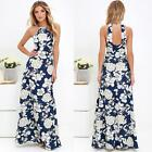 New Womens Sexy Sleeveless Floral Bodycon Evening Party Cocktail Maxi Dress E2G4