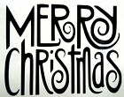 Merry Christmas Holidays Car Truck Window Laptop Vinyl Decal Sticker 10 Colors