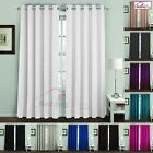 THERMAL BLACKOUT CURTAINS Eyelet Ring Top Ready Made Pair Luxury Insulation