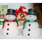 Home impressions Christmas Snowman Real Wax LED Candle With Timer Lovely Decor