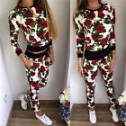 2016 Fall Fashion for ladies flower print long-sleeved sports and leisure suit