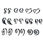 Acrylic Spiral Gauge Ear Plug Fake Cheater Stretcher Flesh Earrings Piercing EW