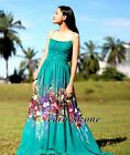 Chiffon Maxi Dress Plus Size Party Teal Green Coast Formal Gown L XL 1X 2X 3X 4X