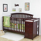 NEW 4 in 1 Side Convertible Crib Changer Nursery Furniture Baby Toddler Bed PICK