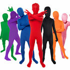 Childs Kids Colored Bodysuit Morphsuit Fancy Dress Party Halloween Costumes
