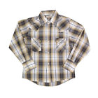 Boy's Ely Cattleman Long Sleeve Plaid Snap Front Shirt - 151029025