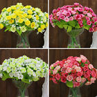 1 Bouquet 21 Head Artifical Plastic Rose Wedding Party Home Decor Silk Flower