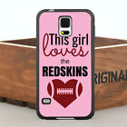 Cool Loves Redskins Pink Case Cover For Samsung Galaxy S Series & Note Series