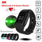 A88 Watch Bluetooth 4.0 Heart Rate Monitor Blood Oxygen Monitor Smart Wristband