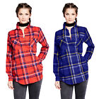 Brave Soul Diana Womens Yarn Dyed Checked Cotton Lumberjack Boyfriend Shirt