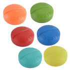 Plastic Round Shaped 4 Slots Daily Pill Medicine Storage Holder Box Container