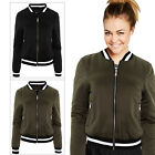 Brave Soul Absolute Womens Contrast Trim Quilted Satin Padded Bomber Jacket