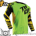 THOR FUSE AIR DAZZ MX MOTOCROSS MOTORCYCLE DIRT BIKE JERSEY FLUO GREEN YELLOW