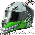 VCAN V127 HOLLOW GREEN FULL FACE MOTORCYCLE MOTORBIKE BIKE HELMET