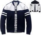 Mens Slim Fit Armband Baseball Jumper Blouson Jacket Blazer Outwear Top W018 S/M