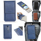 Travel Pouch Belt Holster Magnet PU Leather Card Pocket Case Cover For Phones