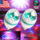 2x E27 3W RGB LED Sound Control Rotating Stage Light Bulb Party Club Disco