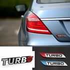 Turbo Universal Car Motorcycle Auto Alloy 3D Metal Emblem Badge Decal Sticker