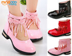 Youth Girls Dress Shoes Children Princess Roman Shoes Lace tassel Party Shoes