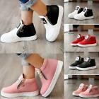 Kids Girls Fashion Casual Leather Sports Sneakers Shoes Zipper Ankle Boots - LD