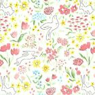 SOMMER GARDEN IN BLOOM -100% COTTON FABRIC MICHAEL MILLER FLORAL MULTI