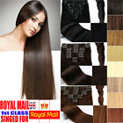 CLEARANCE SALE Premium 100% Clip In Remy Human Hair Extensions Full Head UK M802