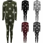 Womens Star Print Lounge Wear Casual Tracksuit Sweatshirt Pants Joggers Set