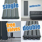 Vertical Designer Radiator Tall Oval Heated Towel Rail Column Heating Anthracite
