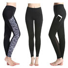 Hot Women's Mesh Yoga Gym Running Fitness Leggings Pocket Pants Athletic Clothes