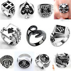 Punk Rock Gothic Men's Stainless Steel Heavy Biker Finger Band Ring Jewelry Gift