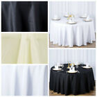 "10 120"" Round Premium Polyester Tablecloths Wedding Party Table Linens Wholesale"