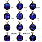 New Fashion 12 Constellations Necklace long glass Photo Vintage Pendant Necklace