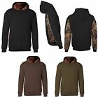 MEN'S CAMO LINED / ACCENT, PULLOVER, MID-WEIGHT, HOODIE, S M L XL 2X 3X 4X