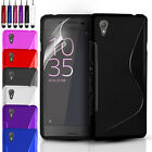 ULTRA THIN SILICONE GEL CASE COVER & SCREEN PROTECTOR FOR SONY XPERIA E5