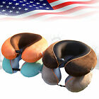 Premium Memory Foam U Shaped Travel Pillow Airplanes Car Head Rest Neck Support