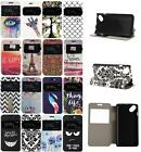"For French Wiko Sunset 2 4"" Fashion View Window PU Leather Flip Case Cover New"