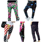 Youth Girls Sports Patchwork Harem Sweatpants Hip Hop Dance Trousers Pants