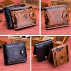 Mens US Dollar Bill Wallet PU Leather Bifold Credit Card Photo Holder Purse - LD