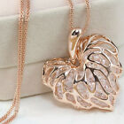 Elegant Women Jewelry Silver/Gold Plated Heart Pendant Long Chain Necklace New