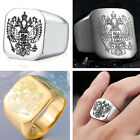 Fashion Man's Stainless Steel ring Eagle emblem Titanium steel Rings S320