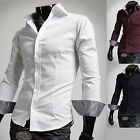 Mens New Luxury Slim Business Casual Dress Shirts Long Sleeve Formal Top W185
