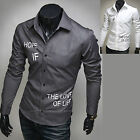 Mens New Luxury Slim Business Casual Dress Shirts Long Sleeve Formal Top W844