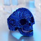 Punk Man's Stainless Steel Ring Decorative Skull Titanium Steel Rings A071