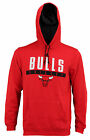 Adidas Men's Chicago Bulls Tipoff Playbook Pullover Hoodie, Red